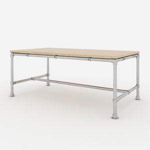 KLEMP Tischgestell Couchtisch Aluminium Tischbeine industrieller Schreibtisch, Model:2, Größe:200x100x80 cm