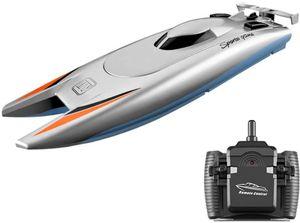 GoolRC Rc Boot für Kinder Erwachsene 25 km / h Hochgeschwindigkeits Rennboot 2 Kanal Fernbedienungsboote für Pools Rennboot
