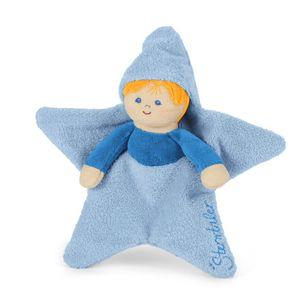 Sterntaler Babyspielzeug Spielpuppe Sterntalerkind bleu