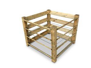 stabiler ECO-Komposter aus Holz ca. 650 L