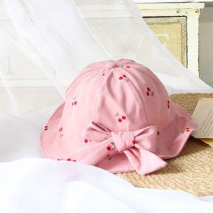 Unisex Baby Kleinkinder Sonnenhut Kappe Mütze Fischerhut Strandhut Kinder Baby Stern Sommerhut UV Schutz (Rosa)