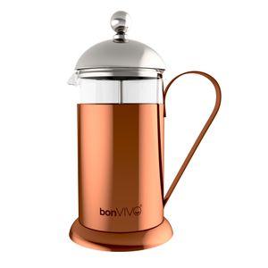 bonVIVO Design-Kaffeebereiter French Press Kaffeepresse Kaffee-Kocher Kupfer 1l, Größe:Large