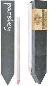 Esschert Design Schiefer Pflanzschild 6er Set; GT131; 19,5x3,1x4,0 cm