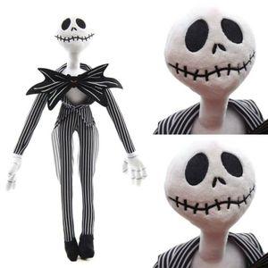 Stofftiere Jack Skellington Puppe Skelett Schädel Plüschtier Gefüllte Halloween