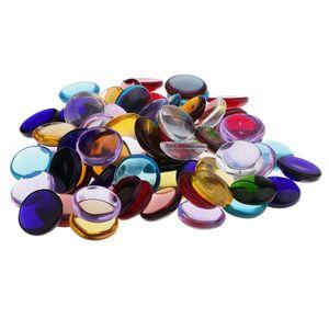 100g Sortiert Runde Glas Glasmosaik Fliesen Für Kunst DIY Handwerk