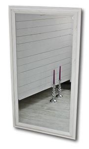 Spiegel 132 Wandspiegel Standspiegel weiß HOLZ Landhaus Holzrahmen Badspiegel