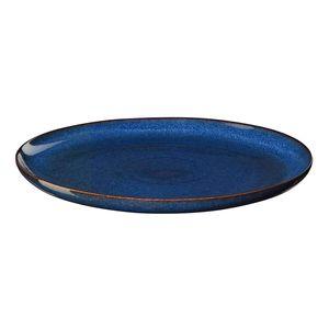 ASA Dessertteller, midnight blue   SAISONS D. 21 cm 27141119  Vorteilsset beinhaltet 6 x den genannten Artikel und Set mit 4 EKM Living Edelstahl Strohhalme