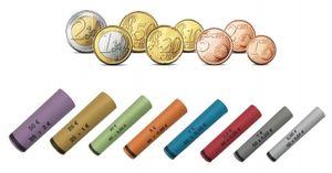 3701 Vorgefertigte Münzhülsen für Euro Münzen sortiert - 119 Stück ( für Münzen von 1 Cent bis 2 Euro