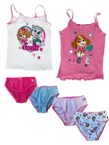 PAW PATROL Skye - Mädchen Unterwäsche-Set bestehend aus 2 Unterhemden + 4 Unterhosen - Vorteils Package  - , Farbe:Rosa & Weiß, Größe:98/104
