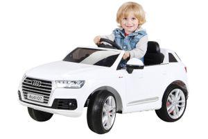 Kinder Elektroauto AUDI Q7 4M SUV Kinderauto Elektrofahrzeug Spielzeug Auto (Weiß)