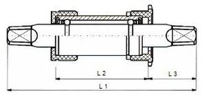 FSA Platin BSA Tretlager 108 x 28 mm Silber