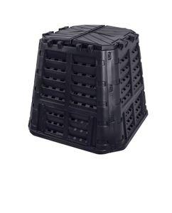 Komposter aus Kunststoff 480L, Schnellkomposter mit Belüftungssystem, modular steckbar, für ideale Zersetzung 480L