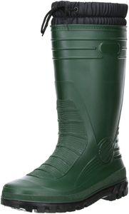 G&G Damen Herren gefütterter Gummistiefel Winterstiefel Regenschuhe dunkelgrün, Größe:44, Farbe:Grün
