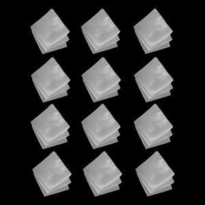 Einstecktuch Der Männer 120pcs Weißes Festes Taschentuch-Gesichts-Taschentuch-Hochzeitsfest