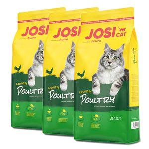 3 x 10 kg Josera JosiCat Crunchy Poultry