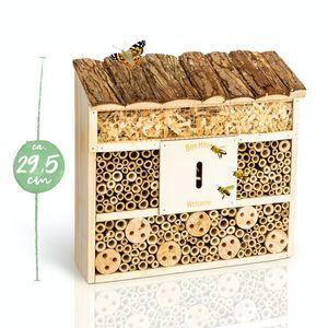 bambuswald© Insektenhotel   Bienenhotel in drei unterschiedlichen Bauformen - Unterschlupf für Bienen Wespen Schmetterlinge Insekten : Insektenhaus Garten Balkon Nistkasten Nützlingshotel