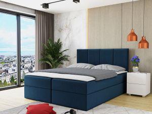 Mirjan24 Boxspringbett Rebos, Ehebett mit zwei Bettkästen, Doppelbett mit Topper (Manila 26, Größe: 160x200 cm)