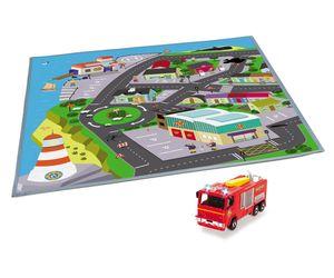 Dickie Feuerwehrmann Sam - Spielmatte Spielteppich Pontypandy 80x70 cm