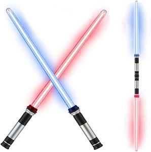 NightyNine 2 Stücke LED Lichtschwert/Laserschwert Color In Neonfarben Leuchtend - Ideal Für Kinder, Fasching Oder Karneval - Batterien Nicht Enthalten