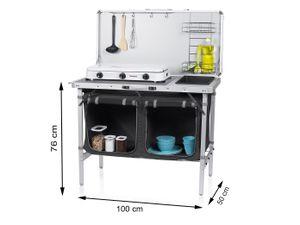 Campart Multifunktionale Campingküche Klappbar + Spülschüssel KI-0757