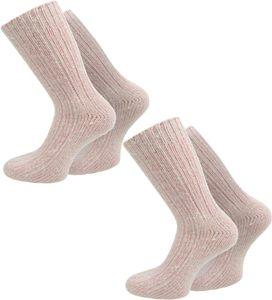 normani 2 Paar Norweger-Socken Pastelltöne