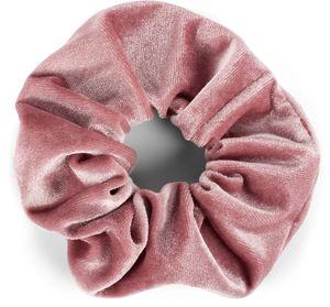 styleBREAKER Damen XXL Samt Haargummi, Einfarbig Glänzend, elastisch, Scrunchie, Zopfgummi, Haarband 04027030, Farbe:Altrose