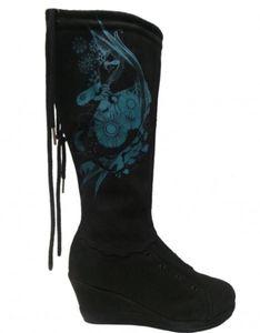Etniesplus Damen Stiefel Olivia Miranda Plus Black/Cyan, Schuhgrösse:37.5