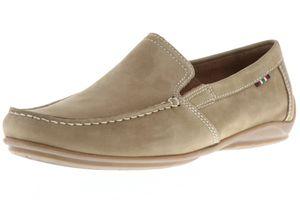 Klondike Herren Mokassins Halbschuhe Slipper beige, Größe:44, Farbe:Beige