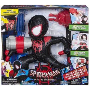 Spiderman Shockstrike Figuur + Accessoires + Geluid.