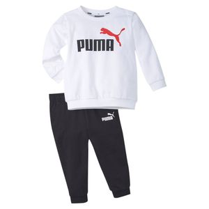 PUMA Unisex Minicats Inf Raglan ESS Crew Jogger Baby Trainingsanzug, Größe:86 _ 12-18 M, Farbe:Weiß (Puma White)