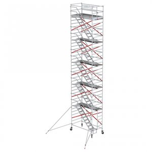 Altrex Treppengerüst RS Tower 53 Aluminium mit Holz Plattform 12,20m AH 1,35x1,85m