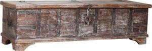 Vintage Holzbox,Holztruhe, Couchtisch, Kaffetisch aus Massivholz, Verziert - Modell 54, Braun, 40*142*41 cm, Truhen, Kisten, Koffer