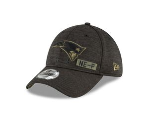 New Era NFL NEW ENGLAND PATRIOTS Salute to Service 2020 Sideline 39THIRTY Stretch Fit Game Cap, Größe :S/M