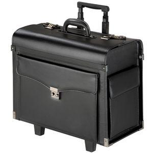tectake Pilotenkoffer Kunstleder - schwarz