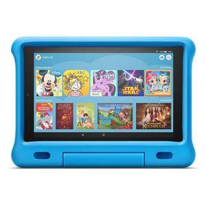 Amazon Fire HD 10 Kids Edition-Tablet 2019, 25,65 cm (10,1 Zoll) Display, blaue kindgerechte Hülle mit Ständer