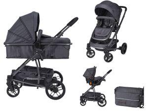 Xadventure 3in1 Kinderwagen X line Xplorer Domino - Kombikinderwagen einschließlich Babywanne & Buggy & Auto-Babyschale