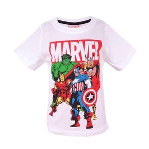 Marvel Avengers kurzarm T-Shirt Baumwolle Weiß 122