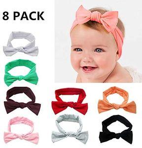 Baby Haarband 8 Stück Stirnband Elastisch Band Schleife Blumen Mädchen Haarschmuck