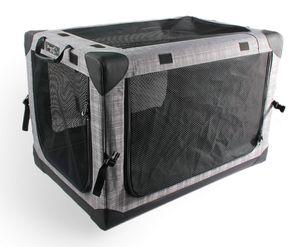 Faltbare Nylonbox Transportbox Hundebox Autobox Hundetasche Transporthütte 80 x 58 x 58 cm