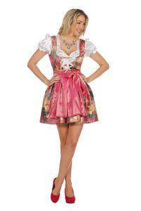 Damen Kostüm Oktoberfest Dirndl Kleid Bluse Schürze Gr.48