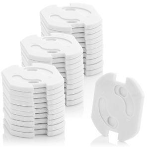 deleyCON 30x Kindersicherung für Steckdosen und Steckdosenleisten Kinderschutz Steckdosenschutz Steckdosensicherung Drehmechanik Baby Kleinkinder