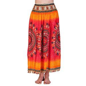PANASIAM Skirt Viskose Summerskirt, Farbe/Design:Maoi Orangeton