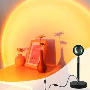 Fotografie füllen Licht Hintergrund Wanddekoration Tischlampe LED Regenbogen Projektion Tischlampe