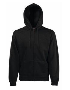 Classic Hooded Sweat Jacket - Farbe: Black - Größe: M