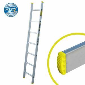 Anlegeleiter mit 7 Sprossen – Profi-Leiter aus Aluminium, 191 cm lang, bis zu 150 kg Belastung, Arbeitshöhe ca. 279 cm, ideal zum Anstellen