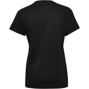 hummel hmlGO Baumwoll Logo T-Shirt Damen kurzarm black S