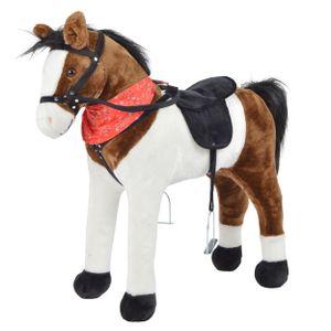 """Pink Papaya Stehpferd """"Jasper"""" 75 cm Pony bis 100 kg belastbar mit Sound und Steigbügeln"""