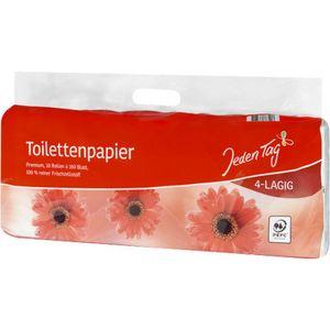 Jeden Tag Toilettenpapier 4-lagig - 10x160 Blatt