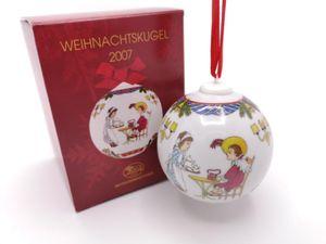 Porzellankugel Weihnachtskugel 2007 - Hutschenreuther - in