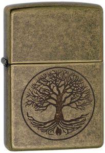 ZIPPO Feuerzeug 60005187 Antique Brass Baum des Lebens  antikes Messing